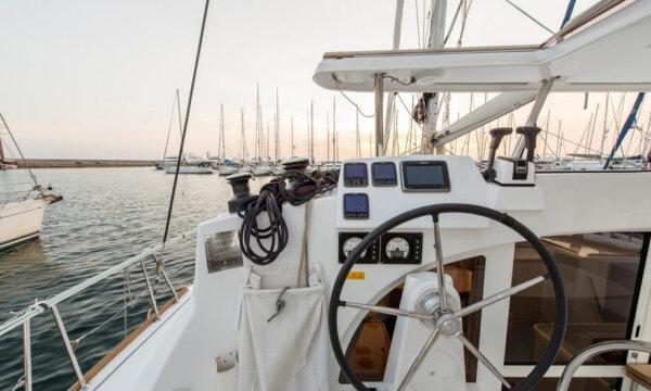 Catamaran in Alimos marina